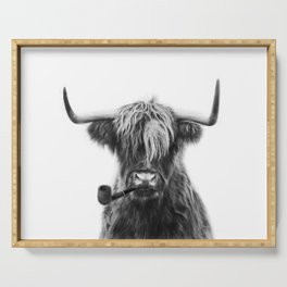 Mr Highland cattle Serving Tray