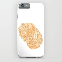 Watercolor Illustration of A bundle of raw noodles iPhone Case