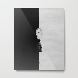 Tony & Nat | Split Metal Print
