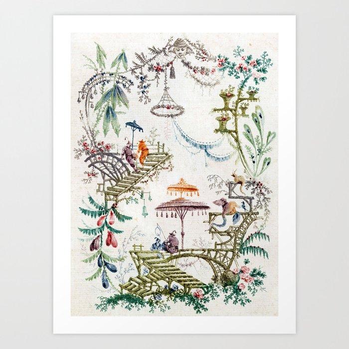 Enchanted Forest Chinoiserie Kunstdrucke