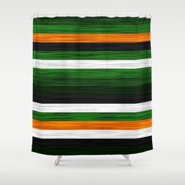 Orange and Green Patchwork 2 Shower Curtain