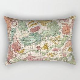 Libra Antique Astrology Zodiac Pictorial Map Rectangular Pillow