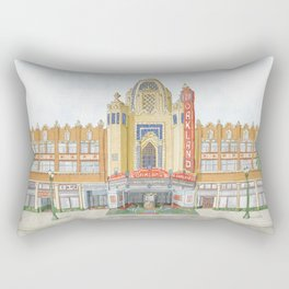 Fox Theatre in Oakland, CA Rectangular Pillow