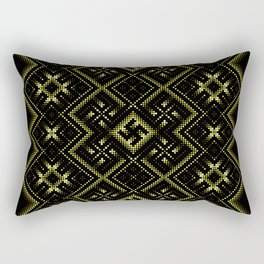 Solar signs. Ancient ornament. Sacred geometry Rectangular Pillow