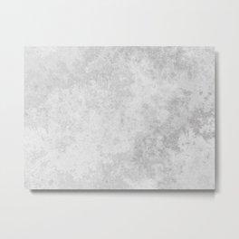 Grunge white gray marble Metal Print