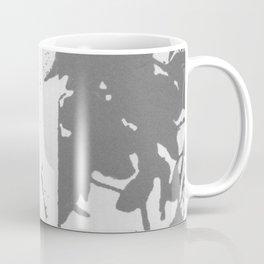 Gray Traces Abstract Botanical Coffee Mug