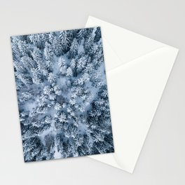 Winter Pine Forest Stationery Cards