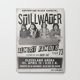 Almost Famous Stillwater Concert Poster Metal Print