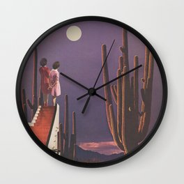 Under Desert Skies Wall Clock