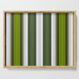 Green Embossed lines Serving Tray