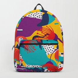 80s Detective Hawaiian Pattern Shirt Backpack