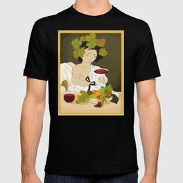 Bacco by Caravaggio T-shirt