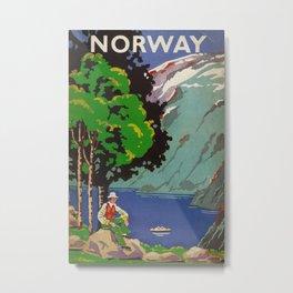 Norway Vintage Travel Poster Metal Print