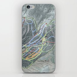 Sunday River Resort Trail Map iPhone Skin
