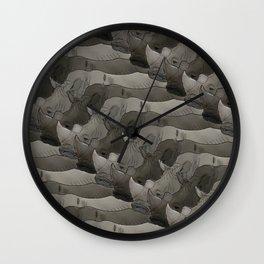 Rhinos Wall Clock