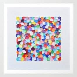 Polka Daub Barnacle Confetti Art Print