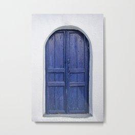 Door in Greece Metal Print