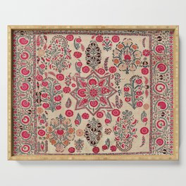 Ura Tube  Antique Tajik Suzani Embroidery Print Serving Tray