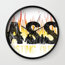 Funny Firefighter Fireman Gift All About Ass Busting Ours  Wall Clock