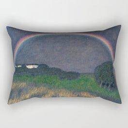 Rainbow at Twilight, Wheat Fields, Auvers-sur-Oise, Frances by Franx von Struck Rectangular Pillow