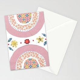 Rainbow No. 6 - papers collage nice dreams tile pattern Stationery Cards