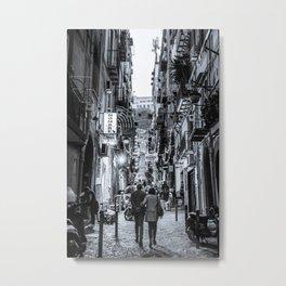 street at night in Naples Metal Print