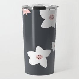 Modern Daisy Pattern Travel Mug