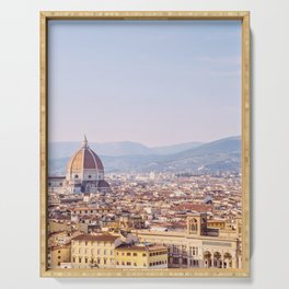 Florence Skyline - Italy Travel Photography Serving Tray