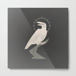 The White Raven Metal Print