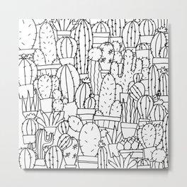 Cool as a Cactus Metal Print