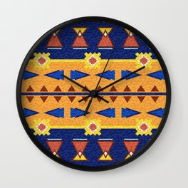textured colorful pattern Wall Clock