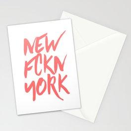 NEW FCKN YORK pink Stationery Cards