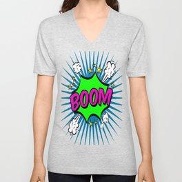 Boom Pink Boom Unisex V-Neck