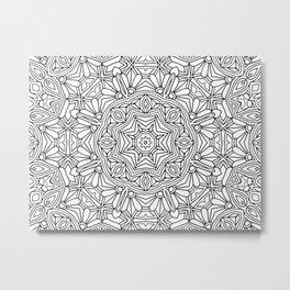 Color me Mandala Metal Print