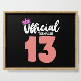 Girl Official Teenager 13 Years Birthday Serving Tray