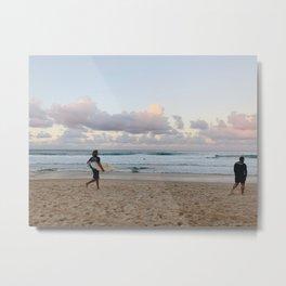 Morning Surf Metal Print