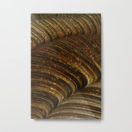 rox - abstract design rich brown rust copper tones Metal Print