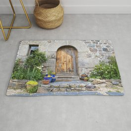 Rustic French Gite in Brittany France Rug