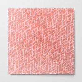Textural Animal Skin Style Pattern in pastel pink Metal Print