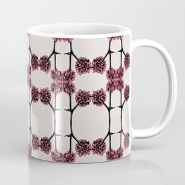 Pink Mirrored Botanical Print Coffee Mug