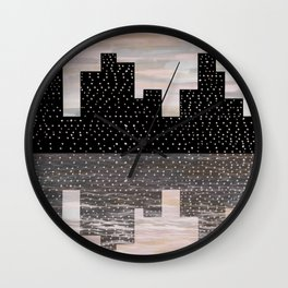 Paint the City Pink Wall Clock