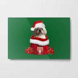 Nutcracker Christmas Bag - Santa Claus TOP Model Paul Shih tzu dog Metal Print