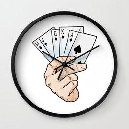 Poker Royal Flush Wall Clock
