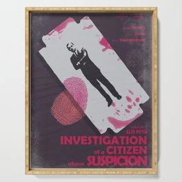 Investigation of a citizen above suspicion, italian movie, Elio Petri, Gian Maria Volontè Serving Tray