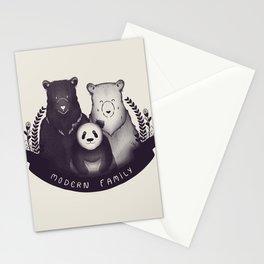 Modern Bear Family Stationery Cards