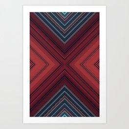 Red Floor Art Print