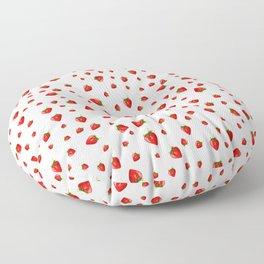 white little strawberry pattern Floor Pillow