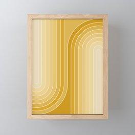 Gradient Curvature VII Framed Mini Art Print
