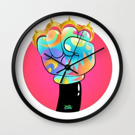 HelloTrilly - Knuckle Up Wall Clock