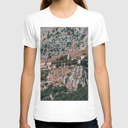 Old Italian Town on Mountain Cliff T-shirt